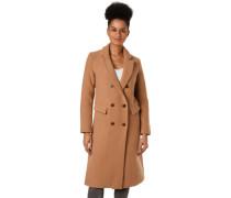 Mantel, lang, Fake-Taschen, für Damen, camel