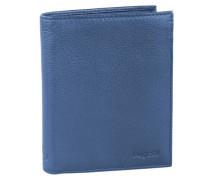 Sempre Geldbörse Leder 10 cm blue