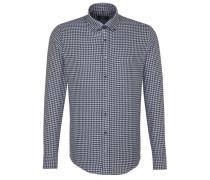Business Hemd Tailored Langarm Button-Down-Kragen Karo 1734 18 Dunkel