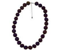 Collier mit Achat-Perlen, violett