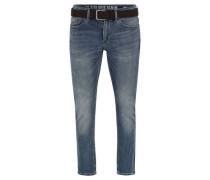 "Jeans ""Super Soft"" Slim Fit Gürtel Stretch-Anteil"
