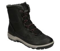 Boots Leder Fleece-Warmfutter Stickerei-Details