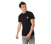 "T-Shirt ""T-DIEGO"" Label-Patch Baumwolle"