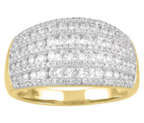 Ring Gelb 585 mit Diamanten, zus. ca. 1,0 ct
