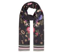 Schal Blumen-Print Streifen
