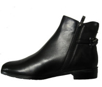 Schnür Boots, Ziernaht, Glanzoptik, Echtleder