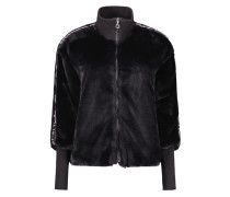 Sporty faux fur jacket