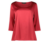 Sensual wide fit satin blouse