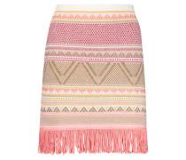 Aztec print fringe skirt
