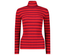 Striped turtleneck jumper