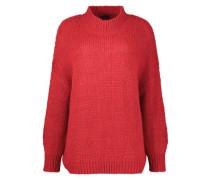 Sanguine red high neck jumper
