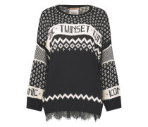Patterned lace insert jumper