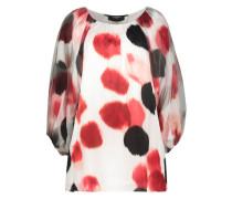 Spot print wide fit blouse