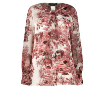 Nature print wide fit blouse