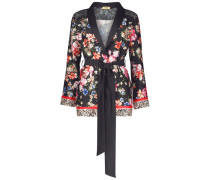 Exciting floral wrap jacket