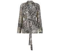 Tribal print wrap jacket