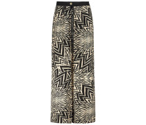 Eclectic print palazzo trousers