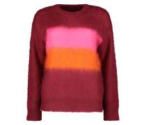 Color blocked fuzzy jumper