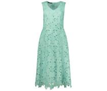 Laser cut floral midi dress