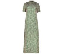 Maxi retro print Oberteil dress
