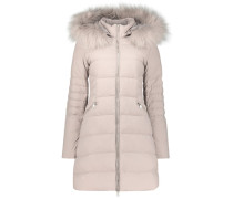 Classic faux fur hood puffer jacket
