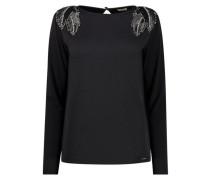 Shoulder embellished blouse
