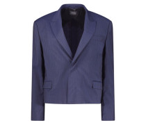 Navy cropped blazer