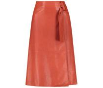 Fashionable leather skirt