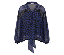 Animal print overlay blouse