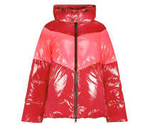 Two color sporty puffer jacket