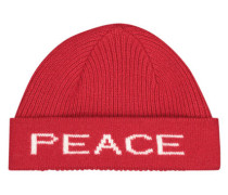 Striking peace & love beanie