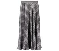 Flared plaid skirt
