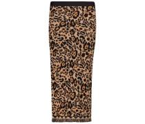 Midi leopard print skirt