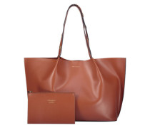 Oversized tan shopper