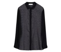 Sequinned sheer blouse