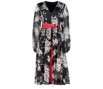 Floral monochrome midi dress