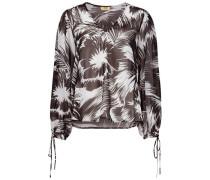 Vivacious v-neck floral blouse