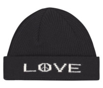 Lovely love and peace beanie