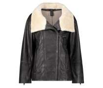 Rocking shearling  aviator jacket