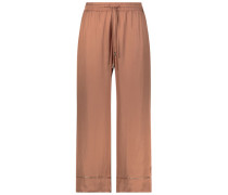 Trimmed straight leg trousers