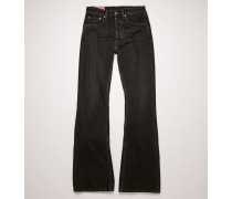 1992F Vintage Black Boot-Cut-Jeans in lockerer Passform