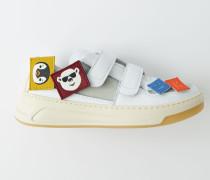 Perey Patch Weiß/Weiß Sneakers mit Klettverschluss