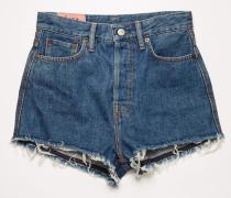 Denim-Shorts mit hohem Bund