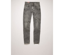 North Dark Stone Grey Jeans in enger Passform mit mittelhohem Bund