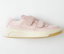 Steffey Nubuk Zartlila/Weiß Sneakers mit Klettverschluss