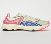 Weiß/Blau/Rosa Trail-Sneakers