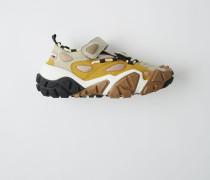 Bolzter Bryz W Grau/Gelb Offene Sneakers mit Klettverschluss