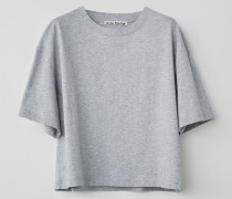 T-Shirt in kastiger, gecroppter Passform
