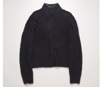 Gebürsteter Pullover mit Polokragen