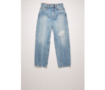 1993 Blue Destroyed Relaxed tapered jeans